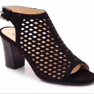 Unisa Black Peep Toe Heel Sandals Ungaila 8.5